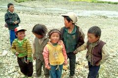 Китай, Тибет, люди стоковые изображения