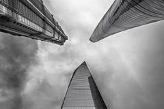 Китай, Шанхай, самые высокие небоскребы Стоковые Изображения