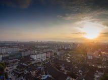 Китай Янчжоу, горизонт города стоковое изображение rf