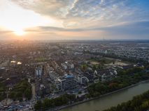 Китай Янчжоу, горизонт города стоковая фотография rf