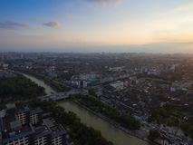 Китай Янчжоу, горизонт города стоковое фото rf