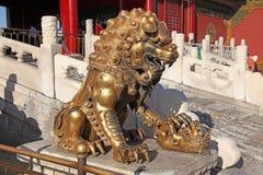 Китай Beijijng Бронзовый бак на запретном городе Стоковое Изображение RF