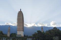 Китай Dali, известный ландшафт башен парка 3 стоковые изображения rf