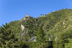 Китай, Juyongguan Раздел горы Великой Китайской Стены Китая Стоковое Изображение
