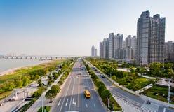 Китай Nanchang, красивейший городской пейзаж Стоковые Фотографии RF