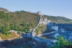 Китай, Pekin, стена Китая, заход солнца, история 2016 стоковое изображение