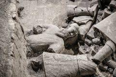КИТАЙ, XIAN - 14-ОЕ МАРТА: Мамы Yong Пинга, терракотовая армия 14-ого марта Стоковая Фотография