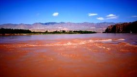 Китай Yangtze Река Хуанхэ на XiAn акции видеоматериалы