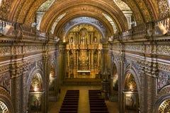 Кито - церковь иезуита Compania La - эквадор Стоковые Фотографии RF