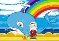 кит jonah иллюстрация штока