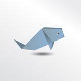 Кит Origami Стоковое Изображение RF