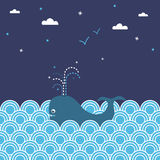 кит seascape бесплатная иллюстрация