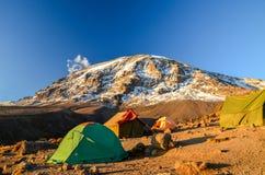 Килиманджаро в солнце вечера - Танзания, Африка стоковое изображение