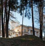 20 километров имущества arkhangelskoye зодчества грандиозных обнаружили местонахождение реки дворца музея moskva moscow памятника стоковые изображения