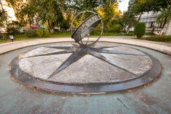 Километр посещения вычеркивает внутри туристическая достопримечательность Бухарест, Румынию Стоковое фото RF