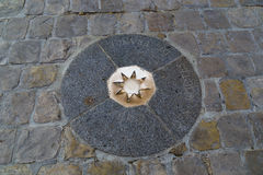 Километр zero Франция стоковые фотографии rf