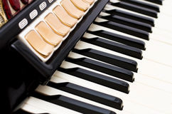 Клавиатура аккордеони Стоковое фото RF