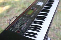 Клавиатура аппаратура клина пальца Кнопочная панель которая имеет форму подобную этому из примечаний рояля стоковое фото rf