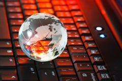 клавиатура глобуса Стоковые Изображения