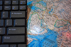 клавиатура глобуса Стоковая Фотография RF