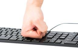 клавиатура изолированная кулачком Стоковое Изображение RF