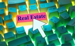 клавиатура имущества реальная Стоковое Изображение
