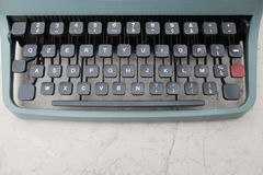 Клавиатура и старая деталь машинки Стоковые Фотографии RF