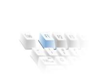 клавиатура ключа помощи Стоковое фото RF