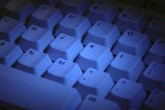 Клавиатура компьютера в сини Стоковые Изображения RF