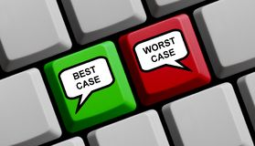 Клавиатура компьютера: Самые лучшие случай и наихудший случай иллюстрация вектора