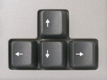клавиатура компьютера стрелок Стоковое фото RF