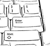 клавиатура конспектировала Стоковые Изображения RF