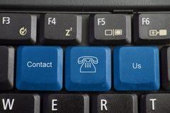 клавиатура контакта мы Стоковые Фотографии RF