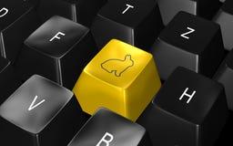 клавиатура пасхи Стоковая Фотография