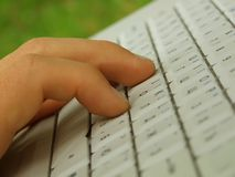 клавиатура перстов Стоковые Фотографии RF
