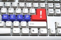 клавиатура помощи Стоковая Фотография