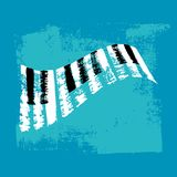 Клавиатура рояля вектора нарисованная рукой иллюстрация вектора