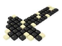 клавиатура стрелки Стоковые Фотографии RF
