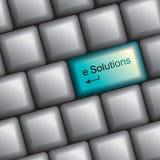 Клавиатура с ключом разрешения иллюстрация вектора