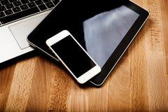 Клавиатура с ПК телефона и таблетки Стоковые Фотографии RF
