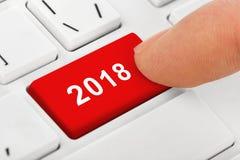 Клавиатура тетради компьютера с ключом 2018 Стоковое Изображение RF
