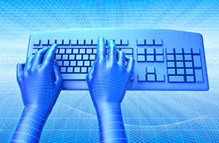 клавиатура фактически Стоковая Фотография