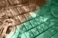 Клавиатура, числа и знаки почты стоковое фото rf
