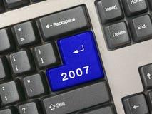 клавиатура 2007 син ключевая Стоковое фото RF
