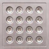 Клавиатура acces двери стоковые изображения rf