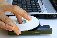 клавиатура cd привода Стоковые Фото