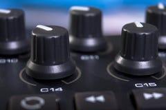 клавиатура midi регулятора Стоковое Фото