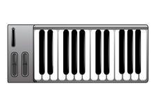 клавиатура midi Стоковое Изображение RF