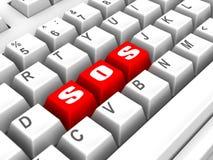 клавиатура sos бесплатная иллюстрация