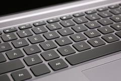 Клавиши на клавиатуре компьтер-книжки Стоковые Фотографии RF